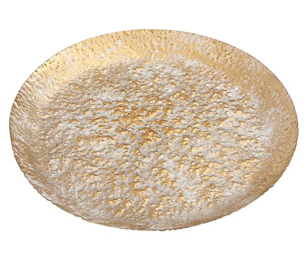 Dehner Metalltablett Gold