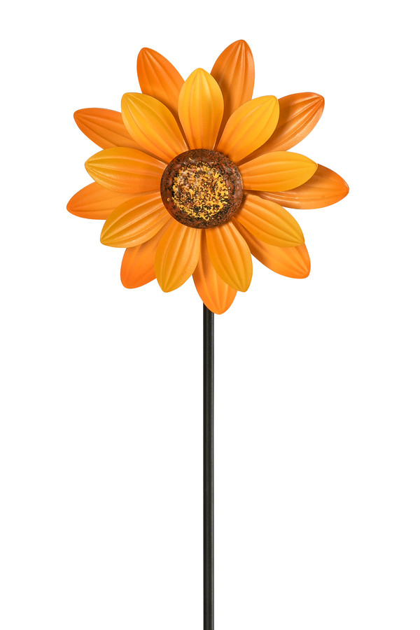 Dehner Metall-Windrad Sonnenblume, ca. B14,6/H81/T6 cm