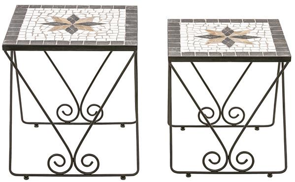 Dehner Mosaikbeistelltisch-Set 'Diana', 2-teilig