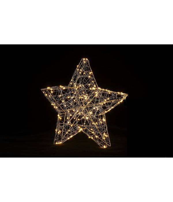 Dehner LED-Stern Silhouette, 160 Lichter, warmweiß