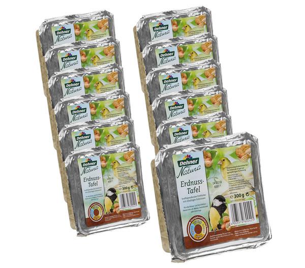 Dehner Natura Futtertafel mit Erdnüssen, 12 Stück
