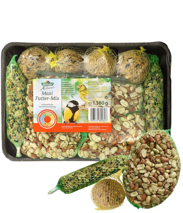 Dehner Natura Wildvogelfutter Spezial-Snackmix, 6-teilig