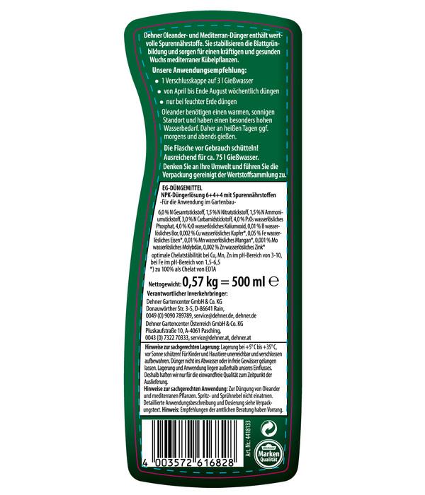 Dehner Oleander- und Mediterran-Dünger, flüssig, 500 ml