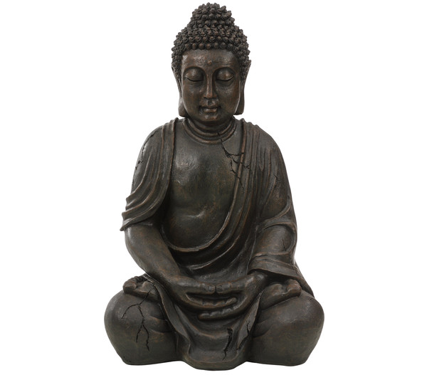 Dehner Polyresin-Buddha, ca. B33,5/H51/T27,5 cm