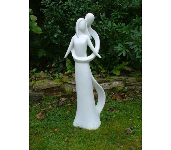 Dehner Polyresinfigur Infinite Love, 21 x 30 x 85 cm, weiß