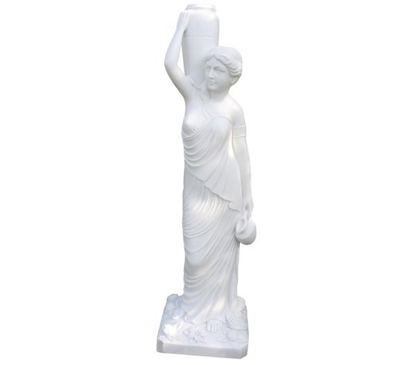 Dehner Polyresinfigur Phoebe, 45 x 39 x 155 cm, weiß