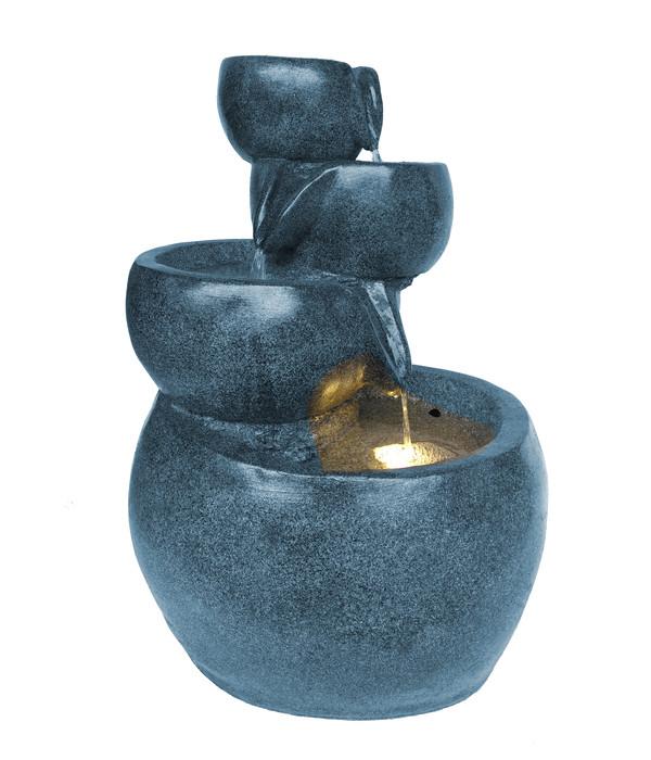 Dehner Polyresin-Gartenbrunnen Bowl, ca. B49/H66/T42 cm
