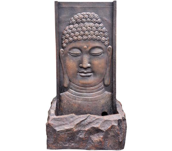 Dehner Polyresin-Gartenbrunnen Buddha, 40 x 26 x 71 cm