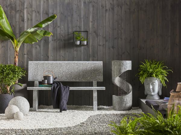 Dehner Polyresin-Gartenbrunnen Mali, ca. Ø 31,5/H79,5 cm