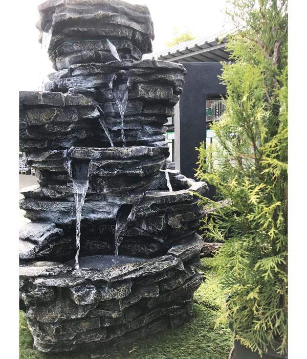 Dehner Polyresin-Gartenbrunnen Roccia, 62 x 65 x 99 cm