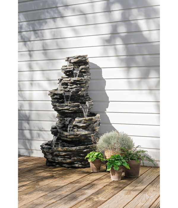 Dehner Polyresin-Gartenbrunnen Torino, 78 x 69 x 144 cm