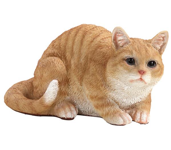 Dehner Polyresin-Katze, lauernd