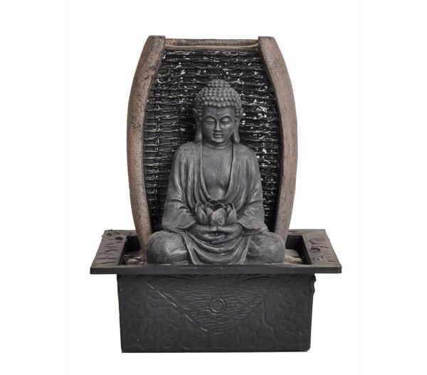 Dehner Polyresin-Zimmerbrunnen Zen-Buddha