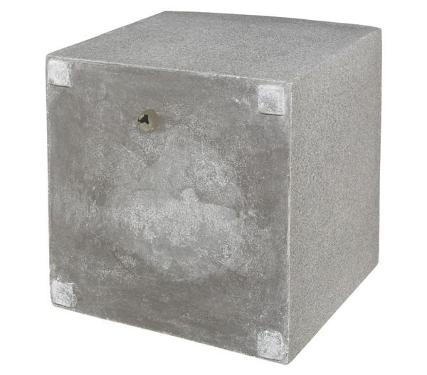 Dehner Polystone-Pflanztopf, quadratisch, grau