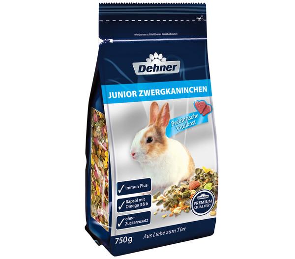 Dehner Premium Junior Zwergkaninchenfutter, 750 g