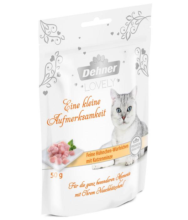 Dehner Premium Lovely Katzensnack Eine kleine Aufmerksamkeit, 50 g