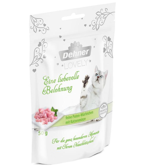 Dehner Premium Lovely Katzensnack Eine liebevolle Belohnung, 50 g