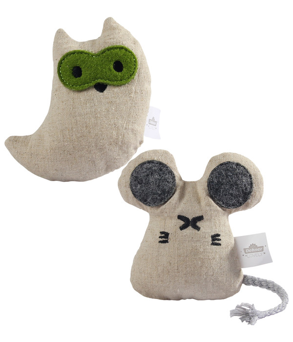Dehner Premium Lovely Katzenspielzeug Set Mini-Eule & Maus