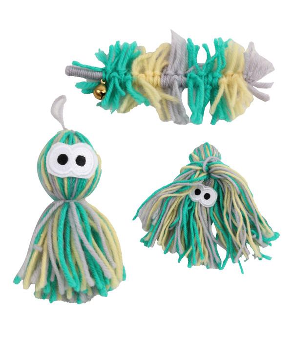Dehner Premium Lovely Katzenspielzeug Set Ungeheuer, Octopus & Urtierchen