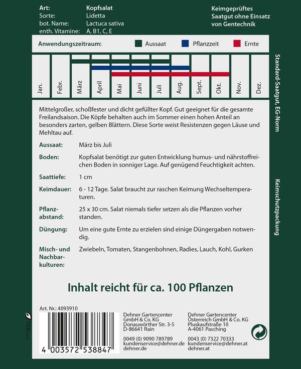 Dehner Premium Samen Kopfsalat 'Lidetta'