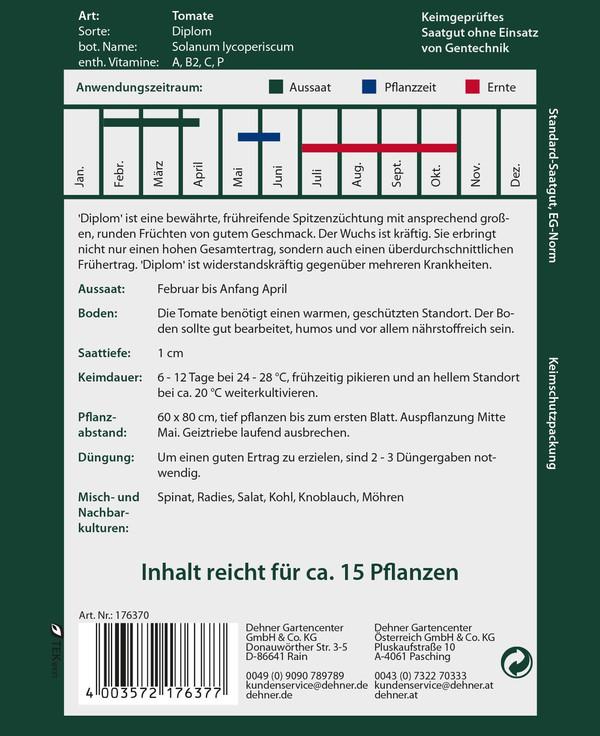 Dehner Premium Samen Tomate 'Diplom'