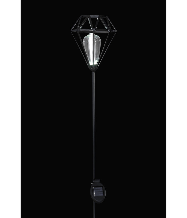 Dehner Premium Solar-Dekostab Arvid, ca. H128 cm, schwarz