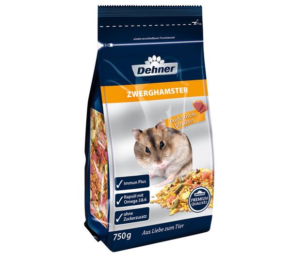 Dehner Premium Zwerghamsterfutter, 750 g