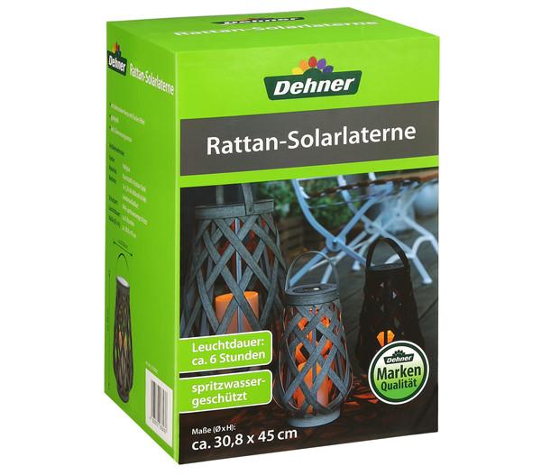 Dehner Rattan-Solarlaterne, 45 cm