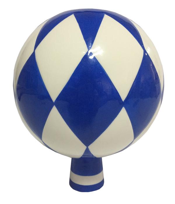 Dehner Rosenkugel Bayern, Ø 15 cm, blau-weiß