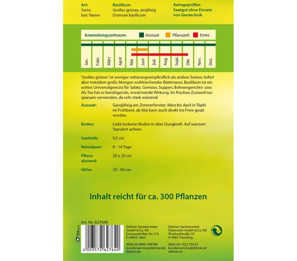 Dehner Samen Basilikum 'Großes grünes'