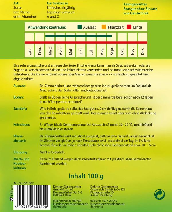 Dehner Samen Gartenkresse 'Einfache'