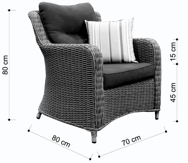 Dehner Sessel 'Toska'
