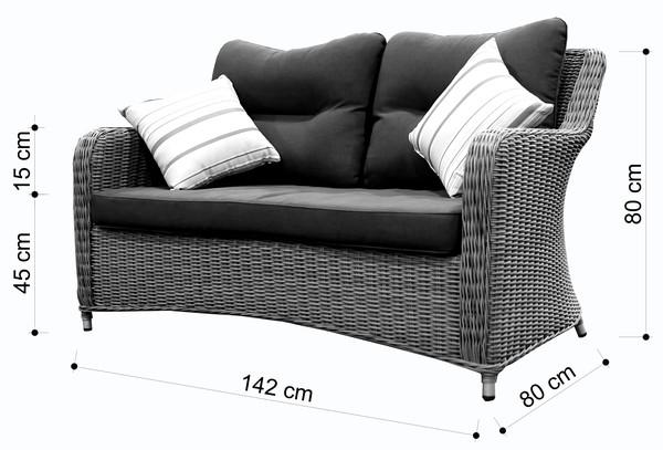 Dehner Sofa 'Toska'