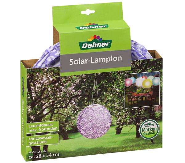 Dehner Solar-Lampion Ornamente, Ø 28 cm