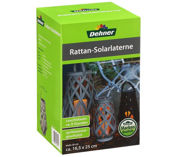 Dehner Solarlaterne Rattan