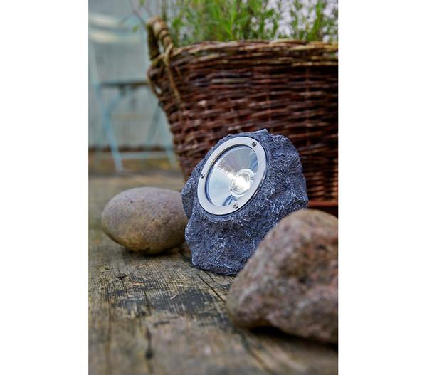Dehner Solar-Leuchtstein, grau