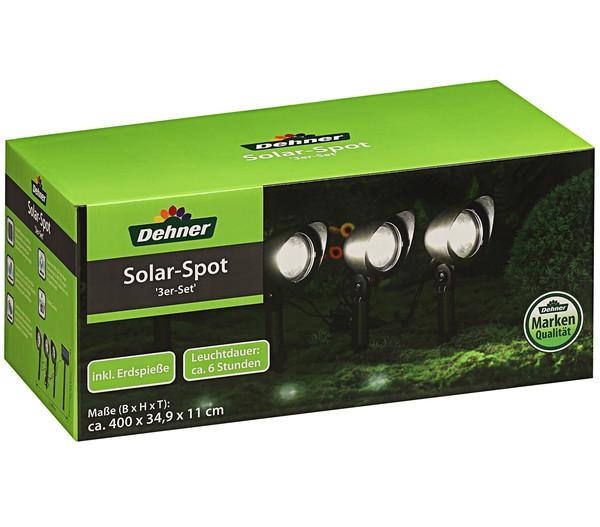 Dehner Solar-Spot, 3er-Set