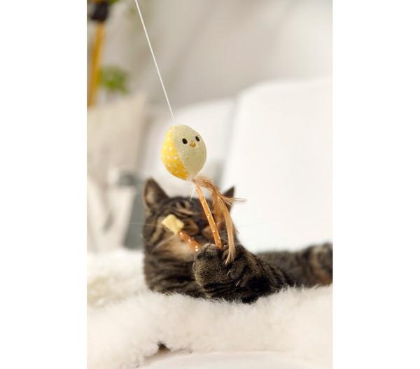Dehner Spielangel Piepmatz, Katzenspielzeug