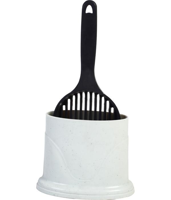 Dehner Streuschaufel Easy litter mit Halter, 18x10x35 cm