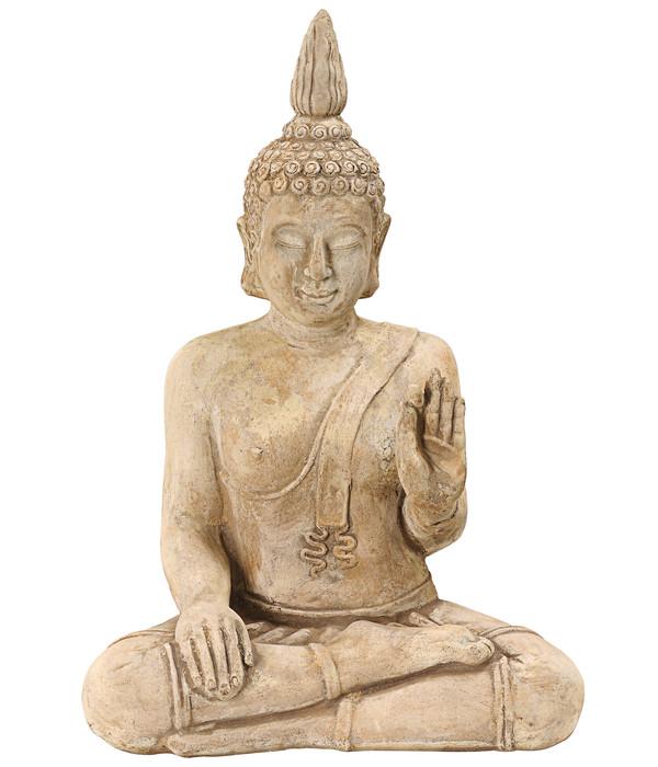 Dehner Terrakotta-Buddha, ca. B39/H55/T25 cm