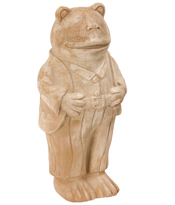 Dehner Terrakotta-Frosch, ca. B16/H35/T13 cm
