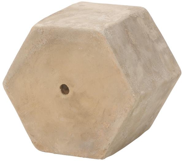 Dehner Terrakotta-Topf Hexagon, Ø 25 x 25 cm