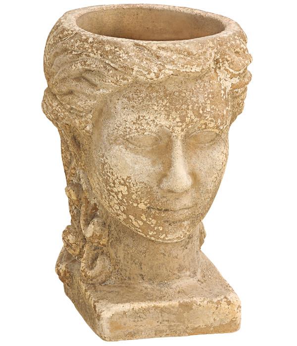 Dehner Terrakotta-Topf Kopf, ca. B22/H28/18T cm, anterra