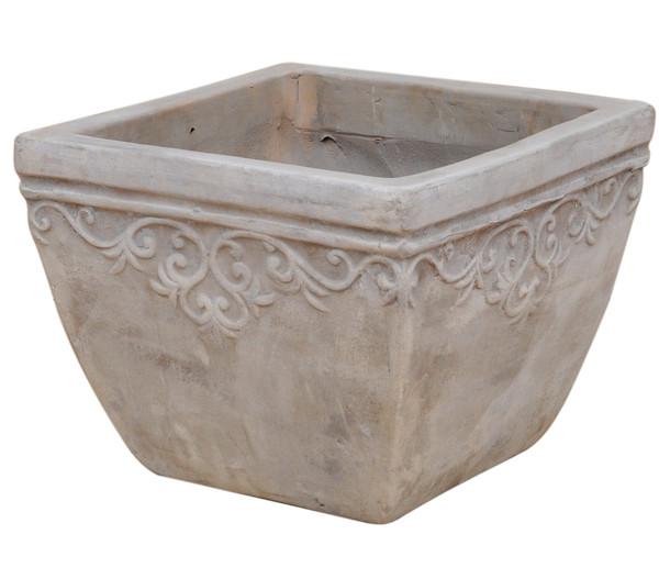 Dehner Terrakotta-Topf Lyah, quadratisch
