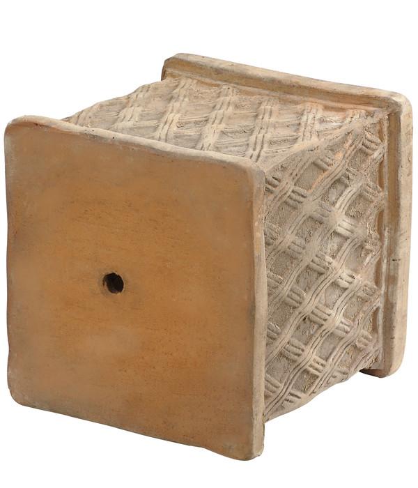 Dehner Terrakotta-Topf Raute, antik-braun