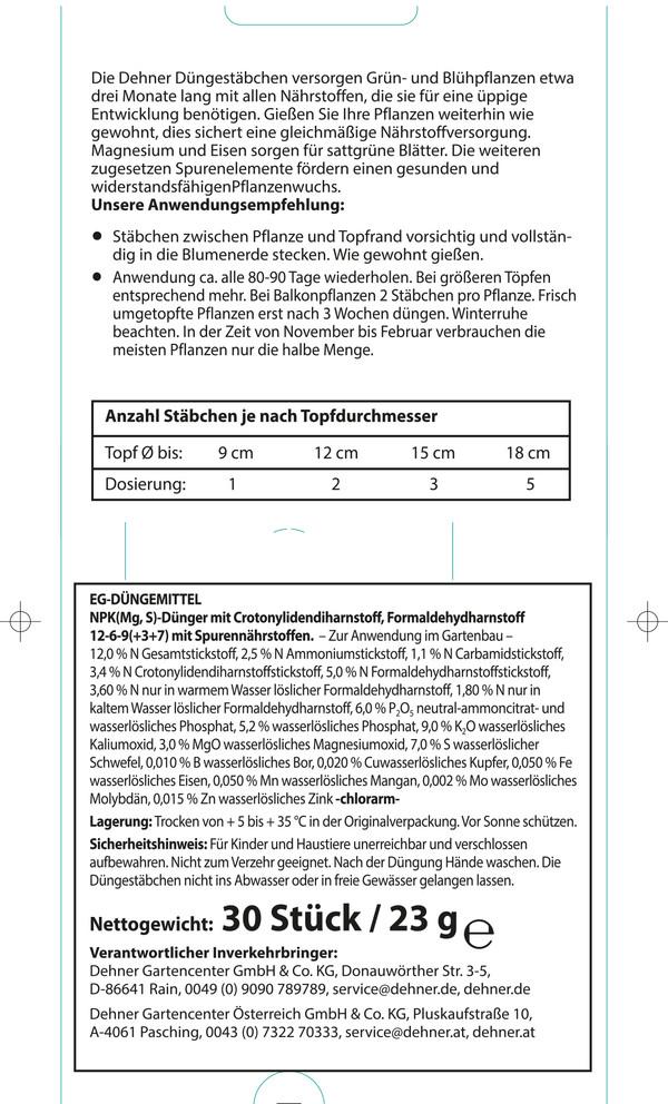 Dehner Universal-Düngestäbchen, 30 Stk.