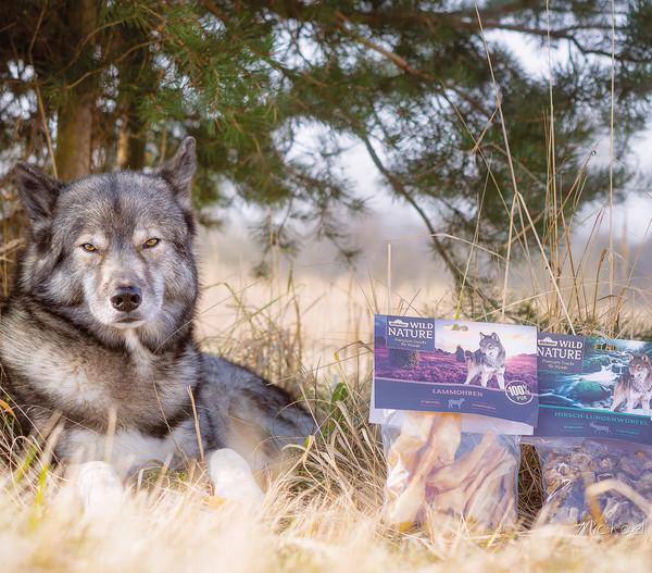 Dehner Wild Nature Hundesnack Hirsch-Lungenwürfel, 200g