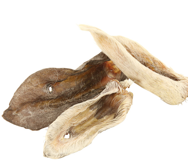Dehner Wild Nature Hundesnack Lammohren mit Fell, 200 g