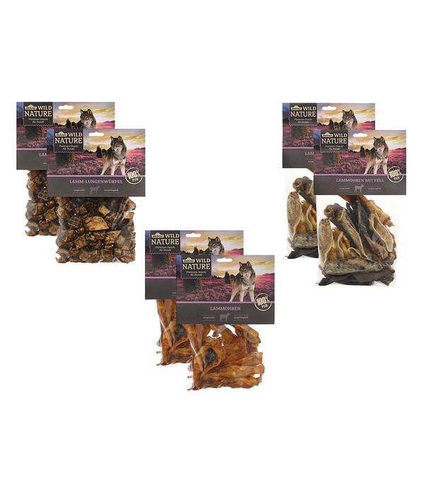 Dehner Wild Nature Lamm, Snack-Set, 6 x 200g