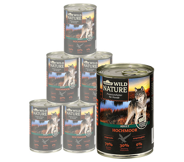 Dehner Wild Nature Nassfutter Hochmoor Adult, 6x400 g/800 g